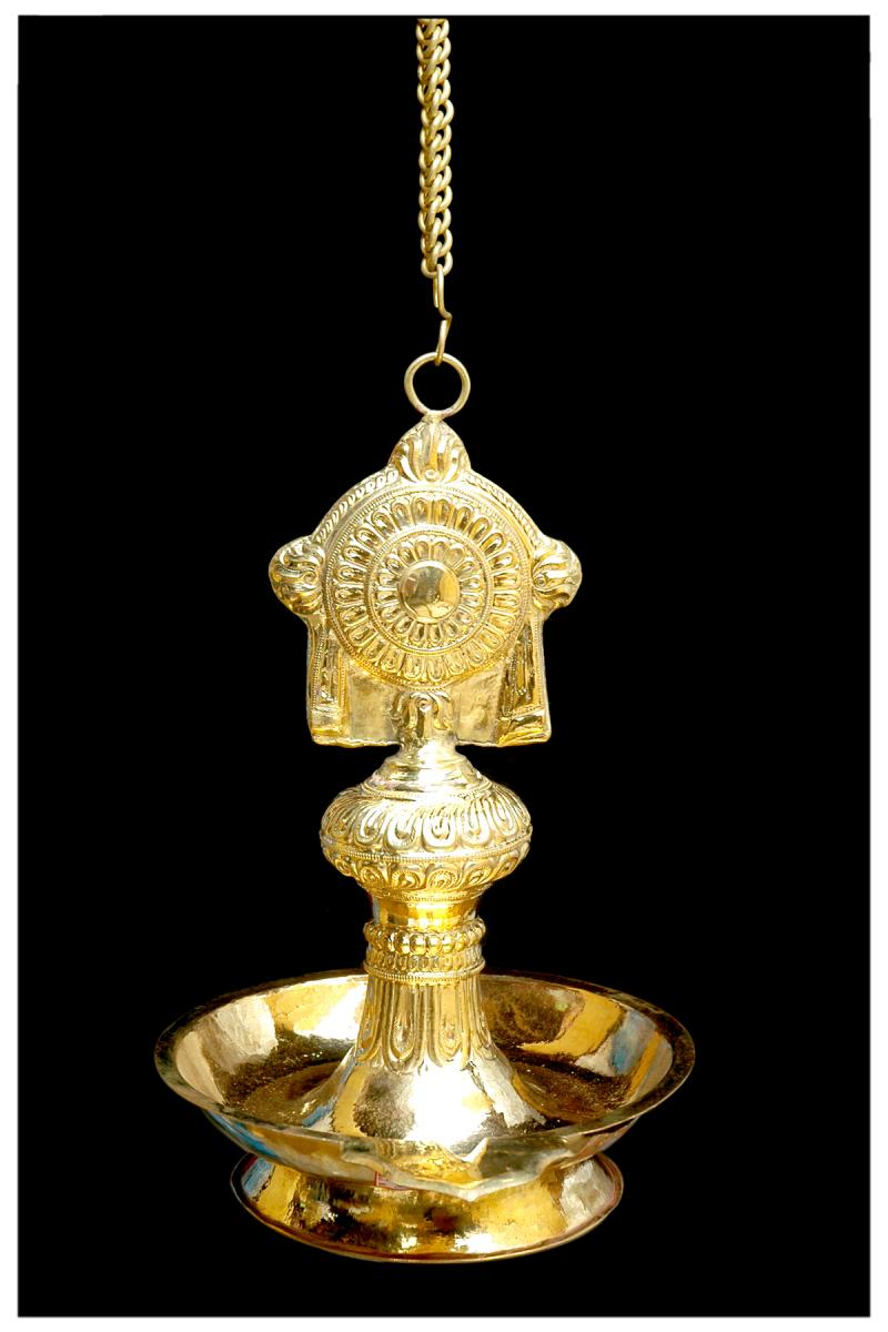 BRASS SHEET MADE SAKKARAM YEGA DEEPAM