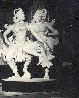CLAY MODEL OF BRONZE GARDEN STATUES