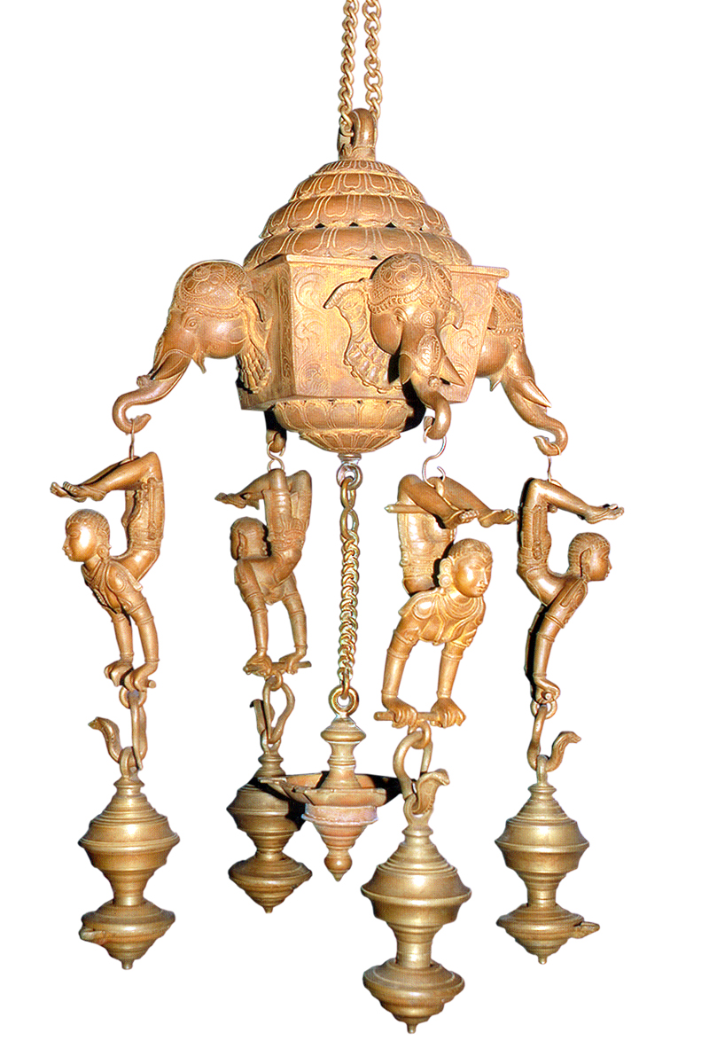 ANTIQUE IMITATION ELEPHANT DOOM LAMP