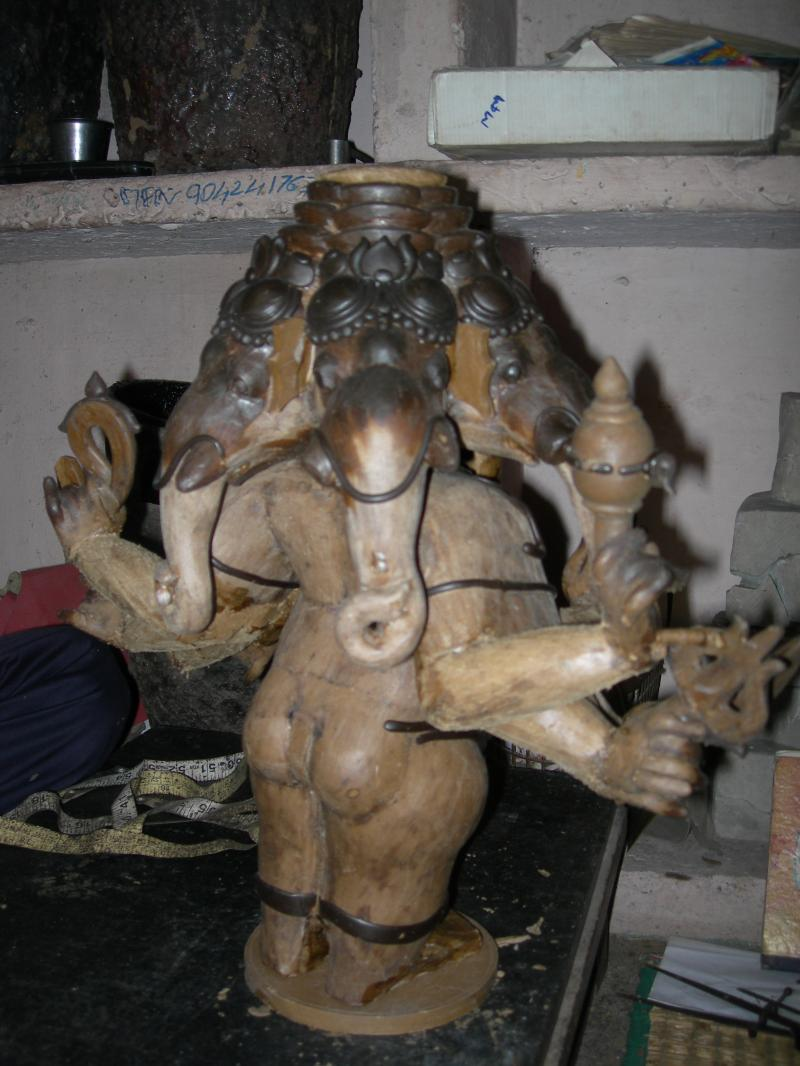 WAX MODEL PANCHAMUGA GANAPATHI BACK VIEW