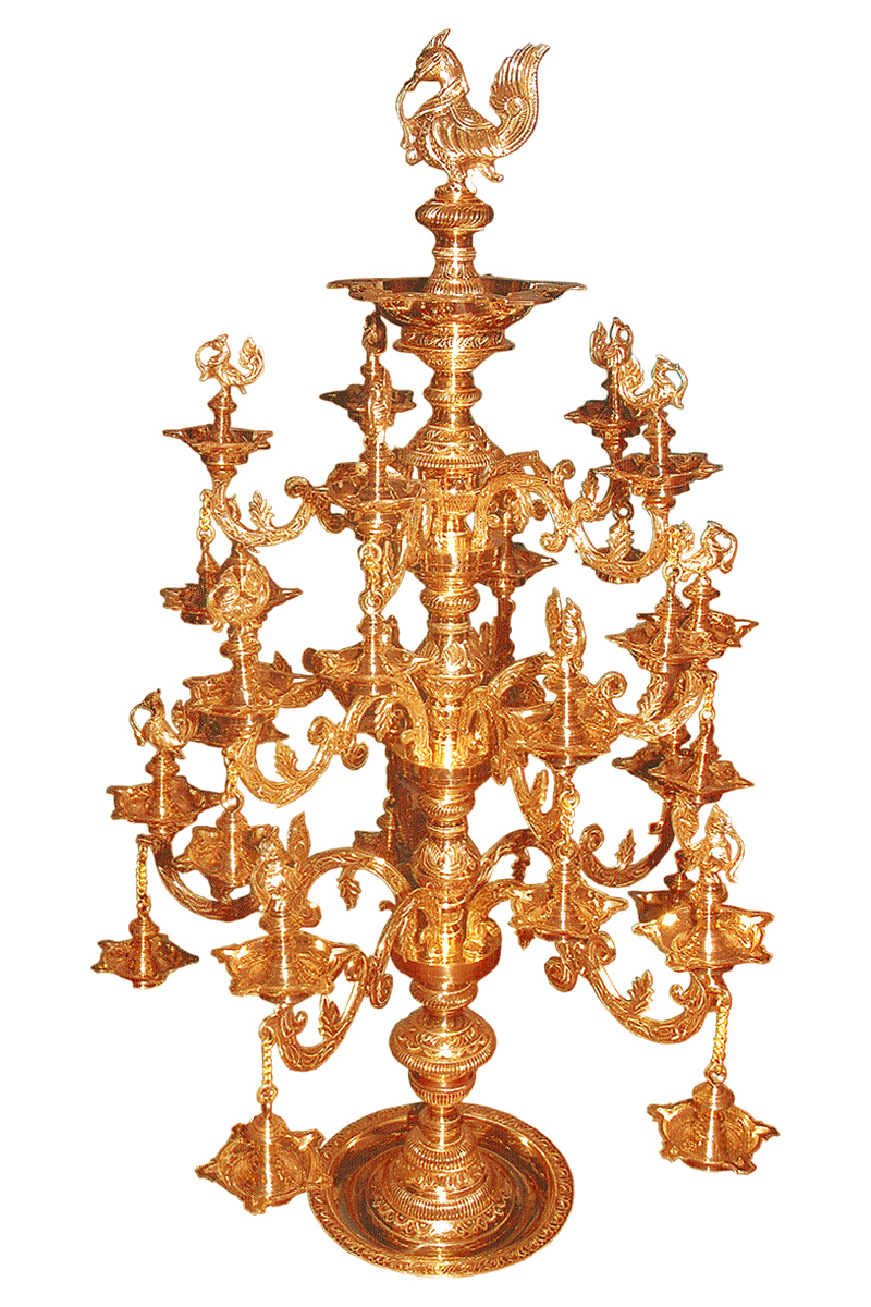 24 CARET GOLD ELECTRO PLATED BRASS BRACHES LAMP