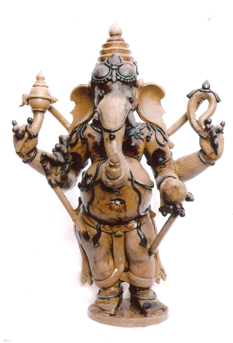 WAX MODEL OF GANESHA FRONT VIEW