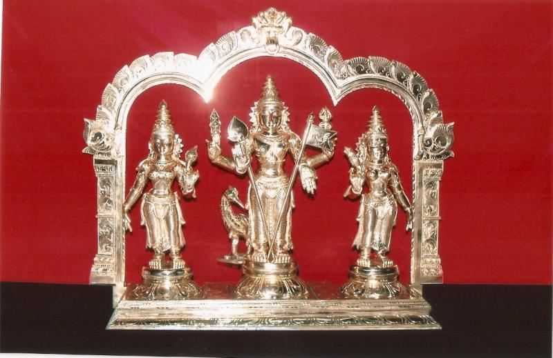 PANCHALOGHA LORD MURUGAN SET WITH THIRUVACHI