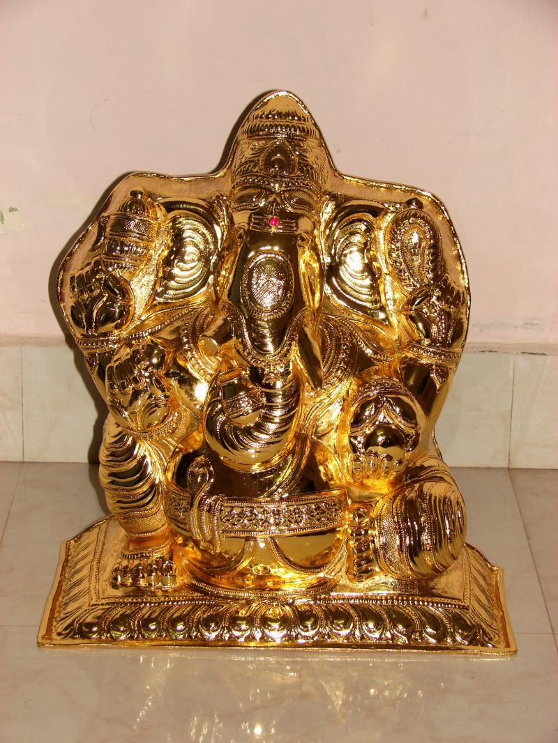 pure golden Kavasam for Lord Ganesha