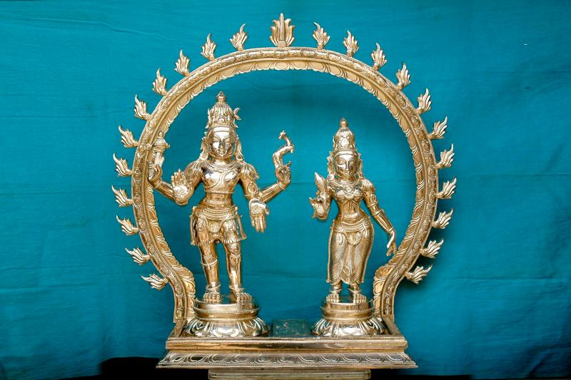 SHIVA AND PARVATH WITH PRABHAVALI