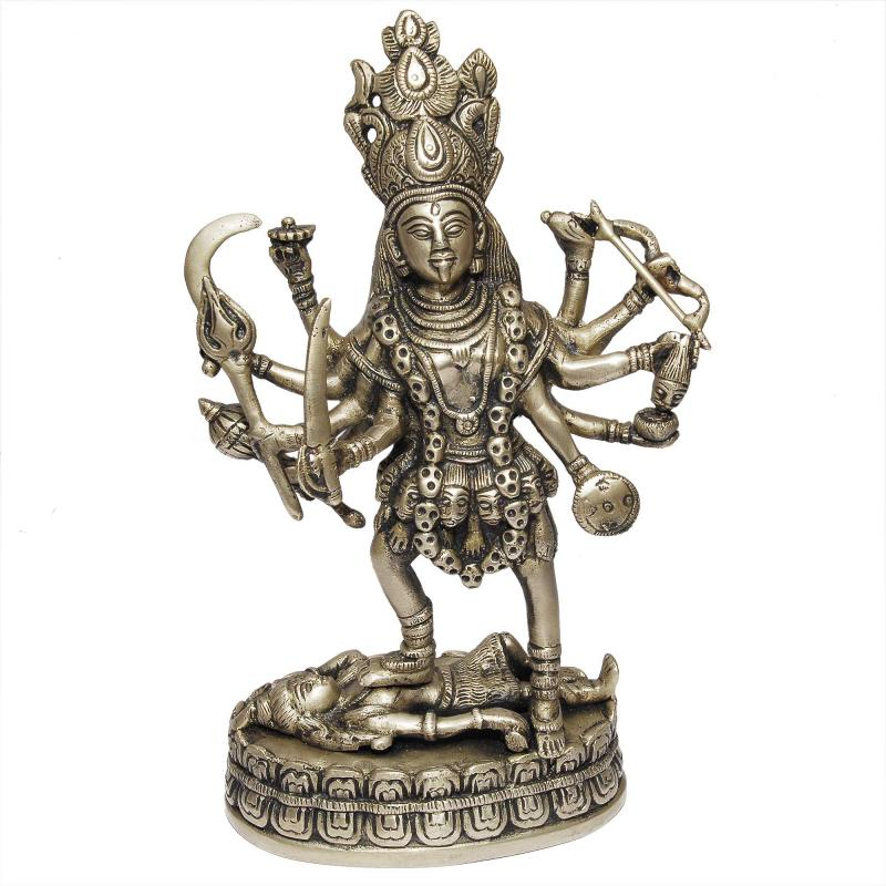 NOTH INDIAN BRASS KALI STATUE