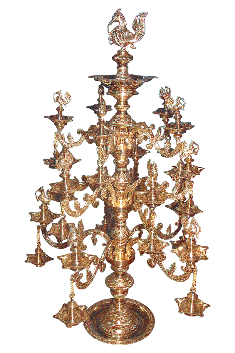 ORNAMENTAL BRASS BRANCHES LAMP WITH ANNAM