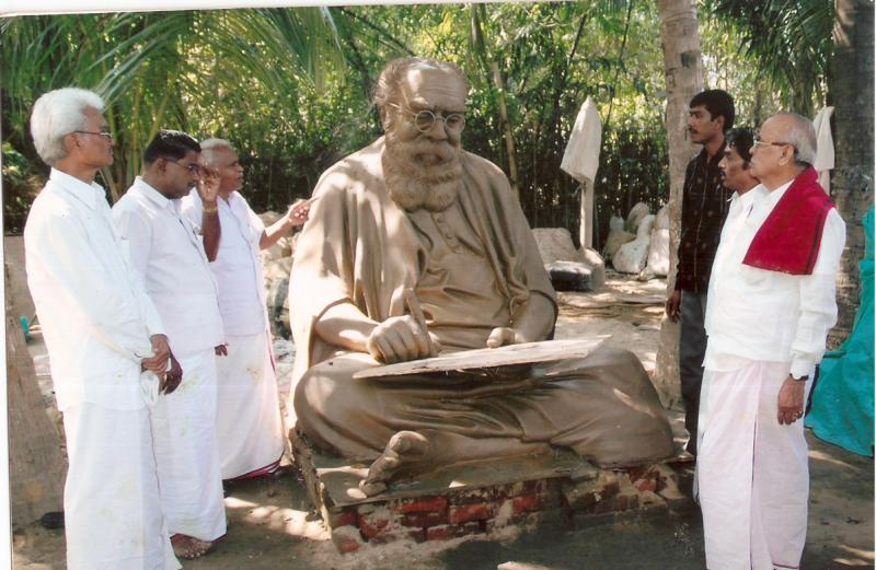 CLAY MODEL OF LIFE SIZE BRONZE PERIYAR STATUE