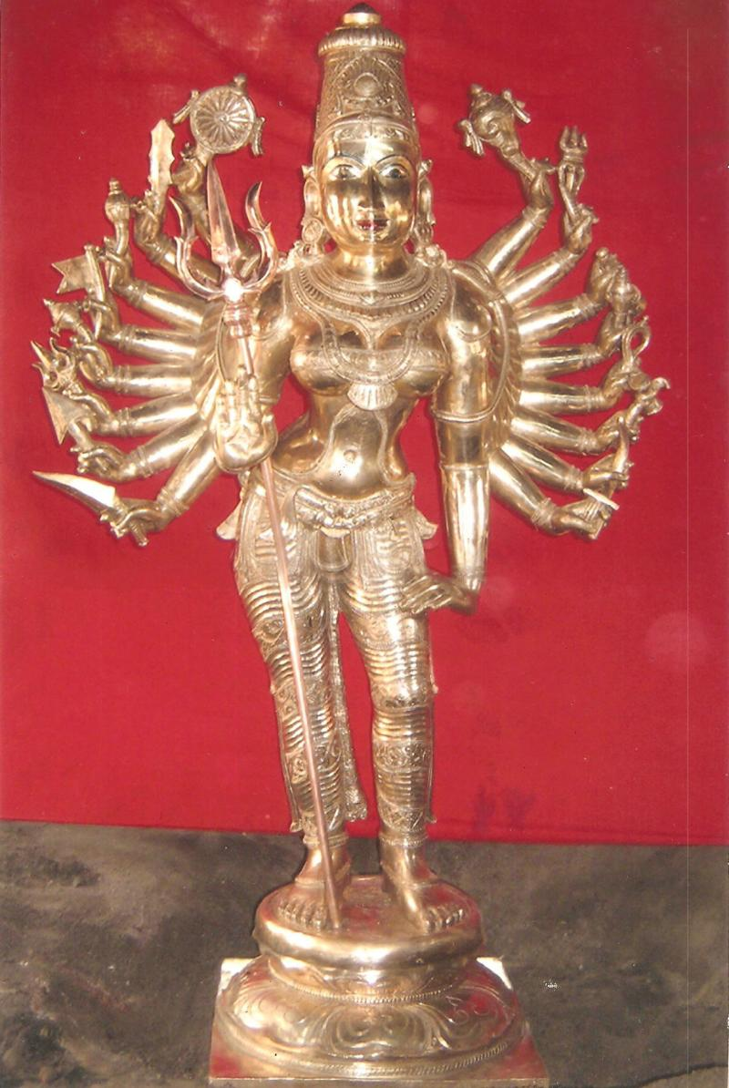 SOUTH INDIAN BRONZE KALI STATUE